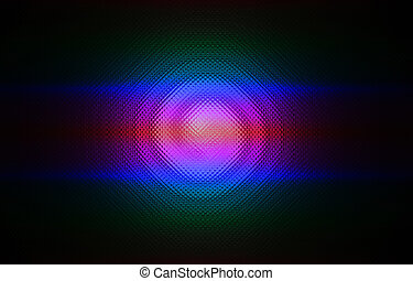 abstract glass on black background, science details -...