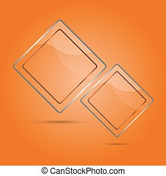Abstract glass panel with copy space