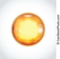 Abstract glass sphere isolated on white