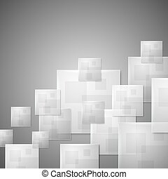 Abstract glass squares business vector background.