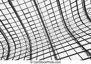 Abstract glass window roof architecture exterior