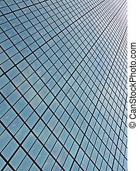 abstract glass windows heap, modern skyscrapper technology...