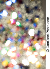 Abstract glitter color lights chrismas background. de-focused - image