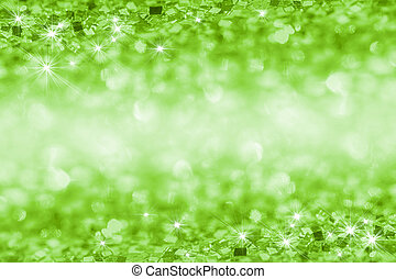 Abstract glitter green background