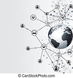 Abstract Global Network Connections - abstract network...