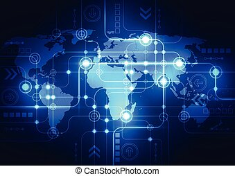 Abstract global network technology background, vector