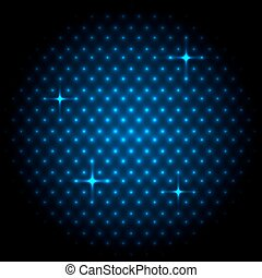 Abstract global with blue dots background