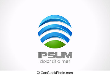 abstract., globale, media, logotipo, cerchio, tecnologia, icon.