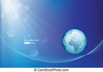 Abstract globe background  Technolo
