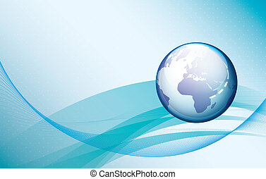 Abstract globe background. Technolo