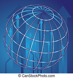 Abstract globe blue background