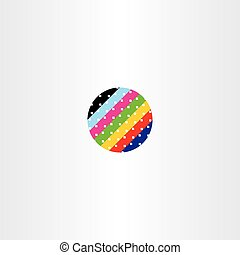 abstract globe circle data information colorful vector icon