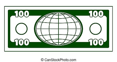 Abstract globe currency