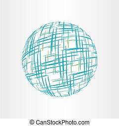 abstract globe earth technology icon
