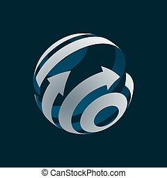Abstract Globe Logo Element.