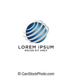 Abstract globe logo template