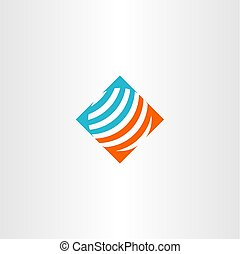 abstract globe logo vector symbol illustration