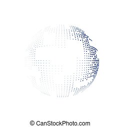 Abstract globe sign on the white