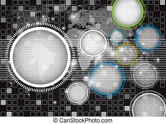 Abstract globe vector and technology background. eps10
