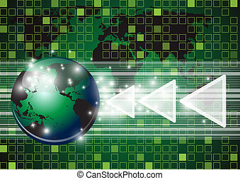 Abstract globe vector and technolog