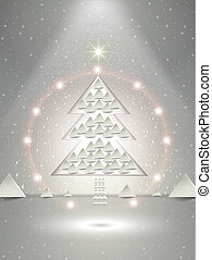 abstract glory paper Christmas tree