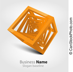 Abstract glossy 3D logo
