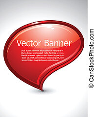 abstract glossy banner vector