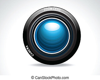 abstract glossy camera lens