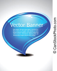 abstract glossy chat banner vector