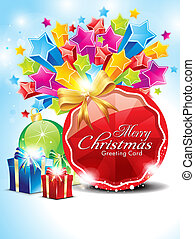 abstract glossy christmas background with stars vector...