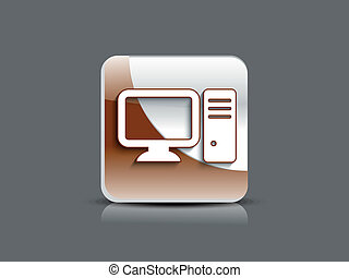 abstract glossy computer icon