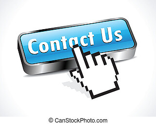 abstract glossy contact button