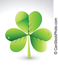 abstract glossy green clover vector