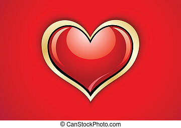 abstract glossy heart vector