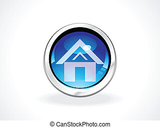 abstract glossy home button abstrac