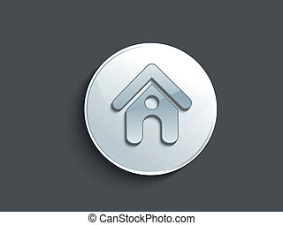 abstract glossy home button vector