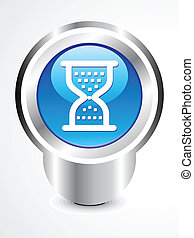 abstract glossy hourglass button