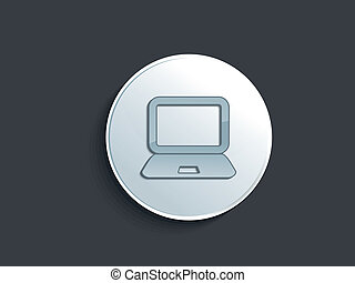 abstract glossy laptop icon vector