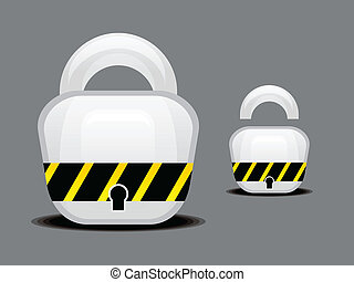 abstract glossy lock button vector