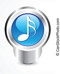 abstract glossy musica icon vector