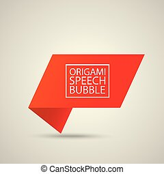 Abstract glossy red speech bubble.