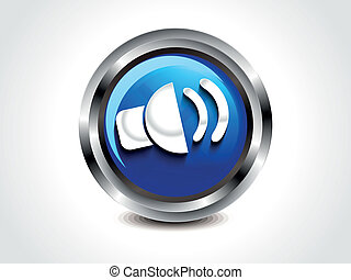 abstract glossy sound button vector