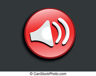 abstract glossy sound icon vector