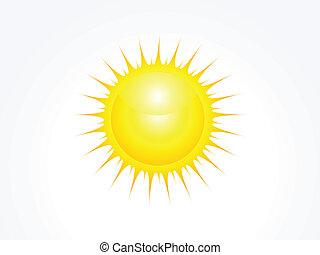 abstract glossy sun icon vector