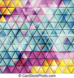 Abstract glossy triangles vector pattern