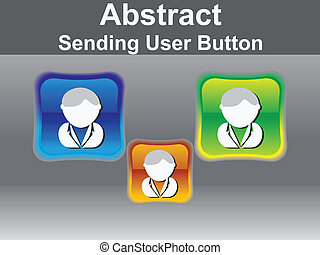 abstract glossy user icon button