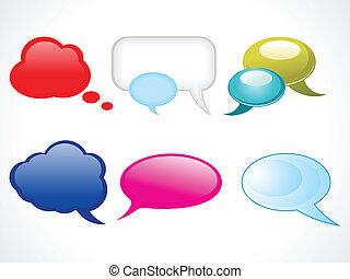 abstract glossy web chat balloons