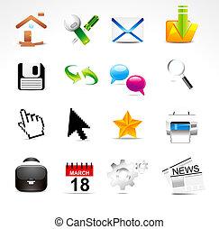 abstract glossy web icon set