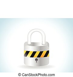 abstract glossy web lock icon