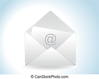 abstract glossy web mail icon
